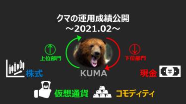【運用実績】2021年2月前半時点 クマの運用実績公開🐻