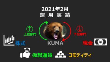 【運用実績】2021年2月 運用実績公開🐻