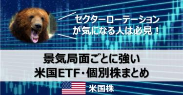 【永久保存版】景気局面ごとに強い米国ETF・個別株まとめ【セクターローテーション】