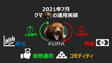 【運用実績】2021年7月 運用実績公開🐻